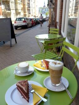 Kaffe und Kuchen.